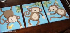 monkey canvas'