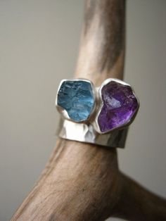 Tanzanite Ring Silver Statement Boho Ring Purple Meditation Ring Inspired Ring Unique Piece Casual Ring Gift For Her