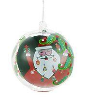 Round Santa Ornament