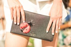 How to Create Straight Nail Art Lines Deborah Lippmann used black nail tape to make the lines on the models' tips at Kate Spade precise. The key, she says, is to apply the tape when the nail is still a bit wet.
