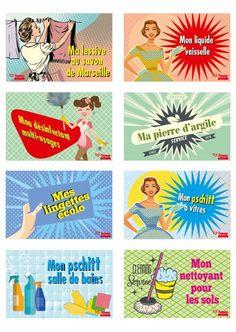Etiquettes gratuites à imprimer pour vos produits ménagers fait-maison : Femme Actuelle Le MAG