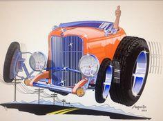 Heath's 1936 fenderless pickup drawing by Joel Nelson | Cool ...