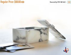 XMAS DISCOUNT Special box for playing card - Arabesque 7 - in real white Carrara marble: (51.00 USD) by TagliazucchiArteShop