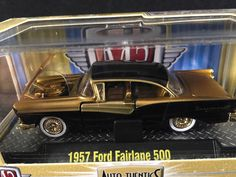 M2 Machines Auto Thentics Release 11 1957 FORD FAIRLANE 500 Black Gold CHASE  #M2Machines #Ford