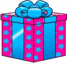 Birthday present clipart for your project or classroom. Free PNG ...