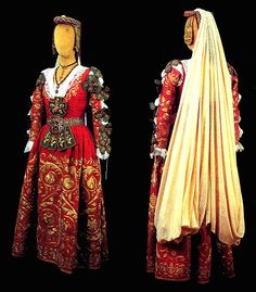 "Arberesh Costume from 'Piana degli Albanesi"""