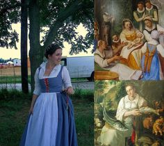 This dress was partially inspired by the two images on the right (along with many others as well). The top right is a fresco done in the late by Federico Zuccari and the bottom right is Vicenzo Campi's Fishmonger, Hi to Morgan Donner! Historical Costume, Historical Clothing, Historical Dress, Italian Outfits, Italian Clothing, 1500s Fashion, Viking Queen, Renaissance Clothing, Italian Renaissance