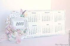 Календари ручной работы. Ярмарка Мастеров - ручная работа Календарь в стиле Шебби Шик. Handmade.