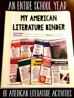 An entire year of American Literature activities in a binder format for students!! Tons of hands on, interactive activities that will keep students thinking critically!