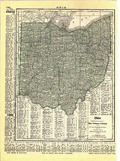 SALE  1915 Antique Maps  Ohio or Kentucky to by PaperSymphony, $4.75