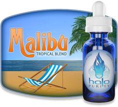 Confirmation 2014 (8/10) Malibu - Halo. Bon c'est pas trop la saison (décembre), mais cela reste un de mes Halo préférés. Une saveur de pinacolada, idéal pour vapoter au bord de la piscine ;-)