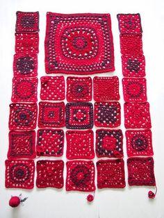 51 Super Ideas For Crochet Afghan Squares Beautiful Colour Gilet Crochet, Crochet Coat, Crochet Jacket, Crochet Cardigan, Crochet Clothes, Crochet Squares, Crochet Motif, Crochet Patterns, Granny Squares
