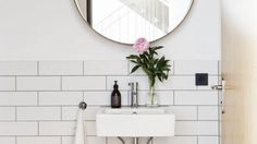 Modern bathroom - the latest from studio oink sfgirlbybay Cozy Bathroom, Modern Bathroom, Day Designer Planner, Metro White, Black White Bathrooms, Farm Stay, Guest Bath, Beautiful Bathrooms, Glass Jars