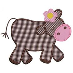 Applique Only :: Heidis Cow Applique - Embroidery Boutique