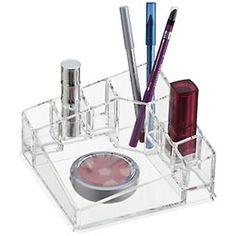 The Container Store > Acrylic Corner Cosmetic Organizer