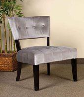 Olivia Silver Panne Velvet Chair