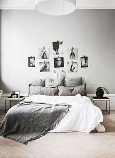 Love the textures + color palette on the bed. Bed should probably be higher.