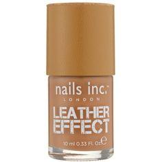 Nails Inc Soho Mews Leather polish ($18) ❤ liked on Polyvore