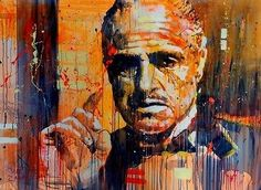 Marlon Brando Godfather Oil Painting - 36 Inches  Frame: No  Technique: Hand Painted  Original: Yes  Frame mode: Unframed  Subjects: Marlon Brando  Shape: Rectangle  Type: Oil Paintings  Style: Abstract  Form: Single  Material: Canvas  Calligraphy and painting type: Canvas Painting  Support Base: Canvas  Model Number: 161816450237 | Shop this product here: http://spreesy.com/urbanedream/116 | Shop all of our products at http://spreesy.com/urbanedream    | Pinterest selling powered by…