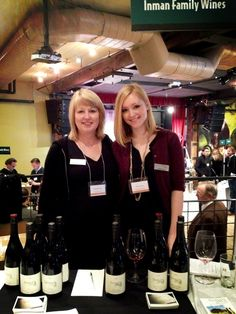 Ashley and Kathleen Inman pouring at Pinot Days in New York. Mother daughter team!