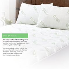 Bed Pillows for Sleeping King size 2 Pack – Deluxe Home Hypoallergenic Down Alternative Fiber Pillows with Bamboo Derived Rayon / Poly Cover – Designed and Filled in USA (King) Searching bedroom decoration pictures... - http://aluxurybed.com/product/bed-pillows-for-sleeping-king-size-2-pack-deluxe-home-hypoallergenic-down-alternative-fiber-pillows-with-bamboo-derived-rayon-poly-cover-designed-and-filled-in-usa-king/