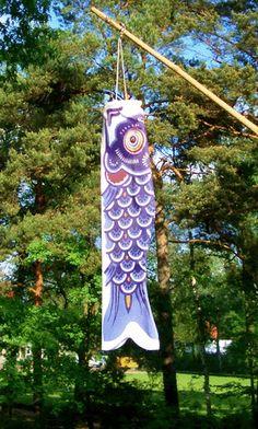 Koi Fahne Koi Nobori 50 cm zauberhaft Dekoration aus Japan verschiedenen Farben | eBay