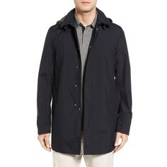 Men's Herno Laminar Double Layer Gore-Tex Raincoat ($835) ❤ liked on Polyvore featuring men's fashion, men's clothing, men's outerwear, men's jackets, navy, mens goretex jacket, mens gore tex jacket, mens fleece lined jacket, mens rain coat and mens navy jacket