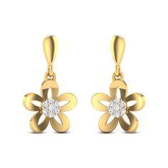 Izabel Diamond Studded Gold Earrings