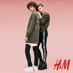 Jackson Hale and Vittoria Ceretti pose for H&M spring 2016 lookbook photoshoot