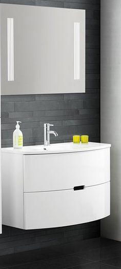 Badezimmer Komplettset ohne Spiegel Weiß (4-teilig) Jetzt ... | {Badschrank modern 93}