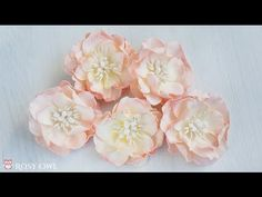Foamiran flower tutorial with Rosy Dot dies - kurs na kwiatek z foamiranu - YouTube