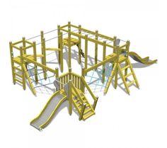 Jungle circuit | glijbaan | klimmen | klauteren | Natuurlijk spelen |  Yalp