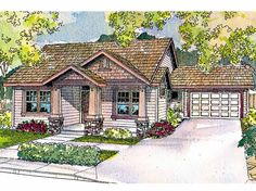 Bungalow House Plan with 1688 Square Feet and 3 Bedrooms from Dream Home Source | House Plan Code DHSW34653