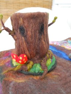 Old Man Hollow Oak Tree Autumn Sculpture Tree House Play by SooSun, $54.00