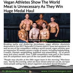 Breaking myths and shattering stereotypes vegan athletes absolutely dominated in the 2017 Naturally Fit Games held in Texas last weekend. As well as one of the competitors setting a world record vegan athletes won an impressive 32 medals across a range of sports including bodybuilding CrossFit Olympic weightlifting kettlebell and powerlifting - 22 of which were first place medals. _ Over 1000 competitors took part in the Games and 39 competitors were part of the non-profit team PlantBuilt…