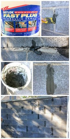 Cleaning Up Old Cinder Block