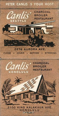 Canlis' Restaurant Honolulu. #frontstriker #matchbook To Order your business' own branded #matchbooks or #matchboxes GoTo: www.GetMatches.com or CALL 800.605.7331 to get the process started today!