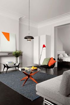 Fresh and modern design with vintage furniture.