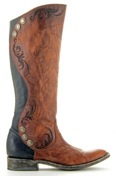 Womens Old Gringo Pomiferra Crystals Boots Chocolate -2