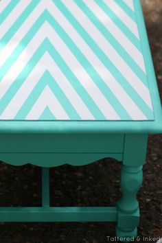 Geometric Coffee Table Makeover with 3M