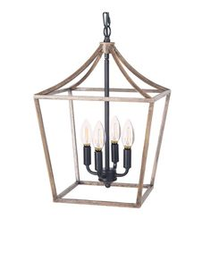 Homenovo Lighting Marden Farmhouse 4-Light Chandelier Wood And Metal Chandelier, Orb Chandelier, Rustic Pendant Lighting, Farmhouse Chandelier, Kitchen Chandelier, Iron Chandeliers, Ceiling Pendant, Round Ceiling Light, Hanging Ceiling Lights