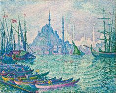 The Golden Horn, The Minarets by Paul Sigac​ | Lone Quixote​ | #PaulSignac #signac #kunst #impressionism #pointilism #art #artwork #arte