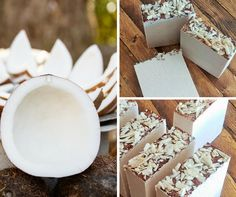 Coconut Scented Handmade Soap!  It will be in the shop tomorrow!