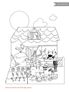 Dibujo granja XuxuLanstrum para colorear.