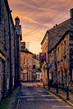 Along the street in Kirkby Lonsdale, Cumbria, England.