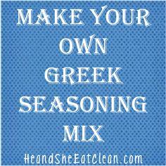 Clean Eat Recipe :: Make Your Own Greek Seasoning Mix