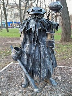 This unique park located in Donetsk city, Ukraine has about 220 compositions of metal art