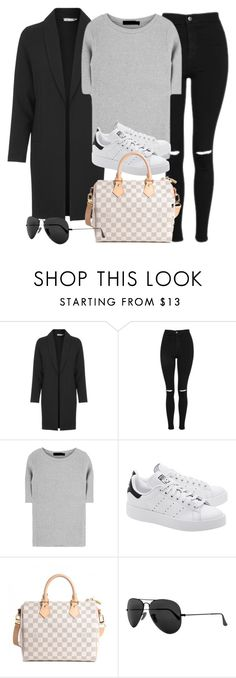 """Sin título #12028"" by vany-alvarado ❤ liked on Polyvore featuring Love, Topshop, adidas Originals, Louis Vuitton and Ray-Ban"