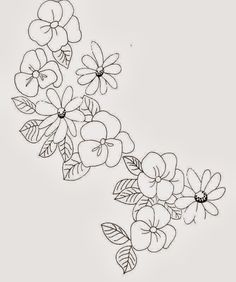 Imagenes para Bordar Ramas de Flores , Patrones para Bordados ...
