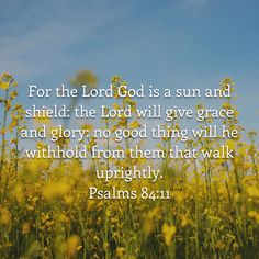 Psalms 84:11 KJV